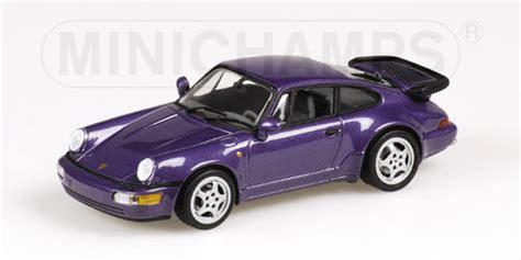 purple porsche 911 turbo minichs 1990 porsche 911 964 turbo purple metallic