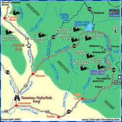 gunnison park loop scenic drive map colorado