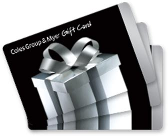 Myer Gift Cards - 100 coles group and myer gift cards