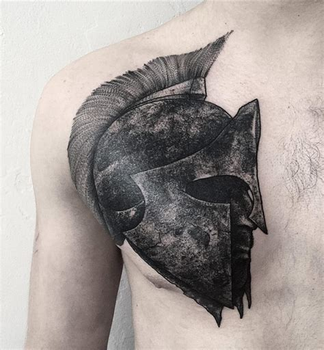 spartan helmet best tattoo design ideas