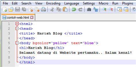 tutorial membuat web html dengan notepad cara membuat website berbasis html dengan notepad