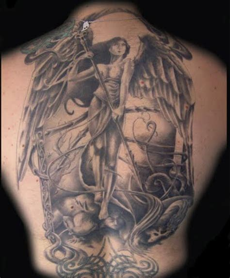 tattoo art death tattoos angels of death themes and