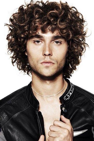 uniform layer mens haircut  curly hair mens