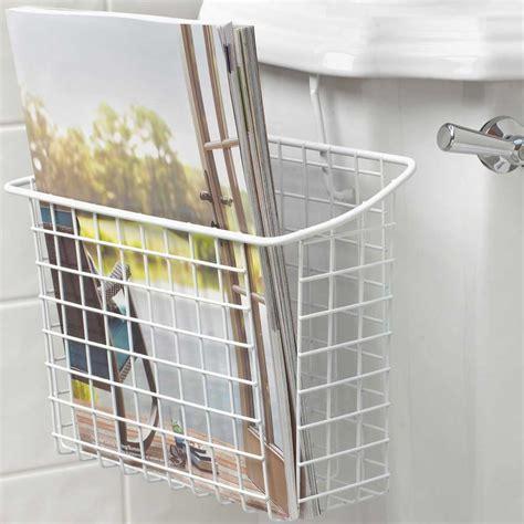 over the tank magazine rack white in bathroom magazine racks