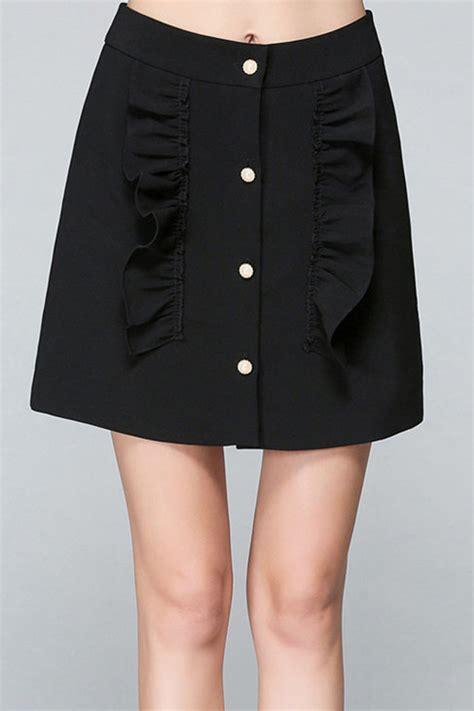 32 99 black plain casual above knee length skirt