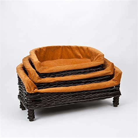 wicker dog sofa luxurious premium wicker pet dog sofa bed with cushion
