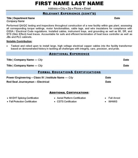 process technician resume sle template