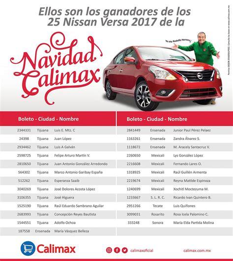 Lista De Sorteo Calimax Enero De 2016 | ganadores sorteo navidad calimax ganadores de sorteo