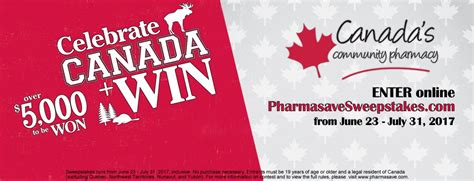 Sweepstakes In Canada - pharmasave sweepstakes win up to 1 000 dollars at pharmasavesweepstakes com