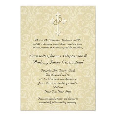 kerala catholic wedding invitation cards golden rings cross christian wedding invitations