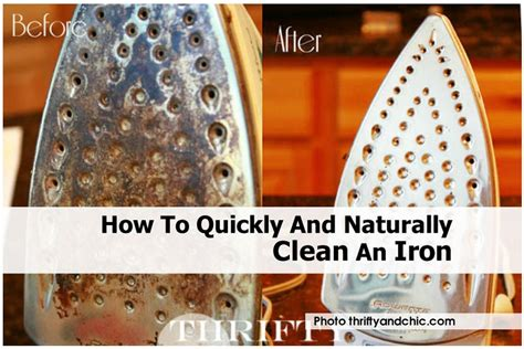 how to quickly and naturally clean an iron