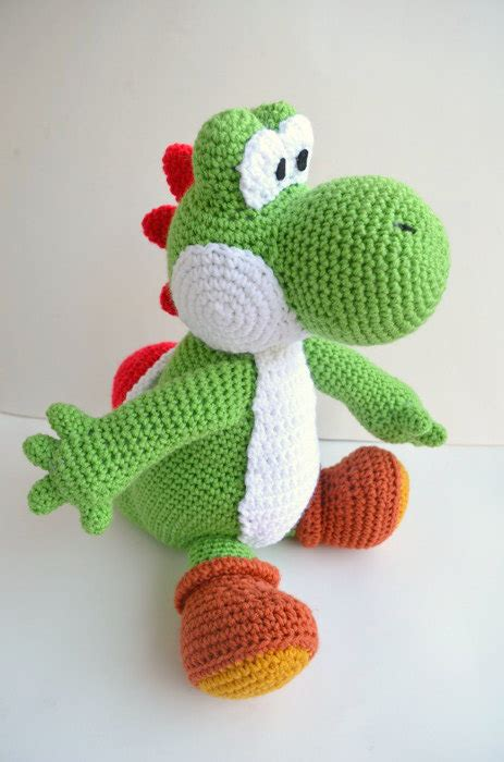 amigurumi pattern yoshi yarn yoshi plush amigurumi doll large version