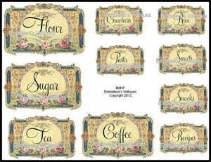 Labels For Kitchen Canisters Vintage Victorian Kitchen Canister And Pantry Labels