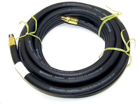 25 ft 3 8 quot continental air hose for air compressor black ebay