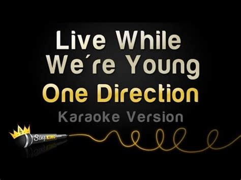 on karaoke version one direction live while we re karaoke version