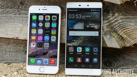 iphone themes for huawei p8 lite apple iphone 6 vs huawei p8 hands on android authority