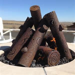 premium steel pit gas logs custom