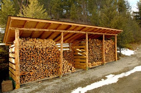 designs  build  wood shed  store firewood hunker