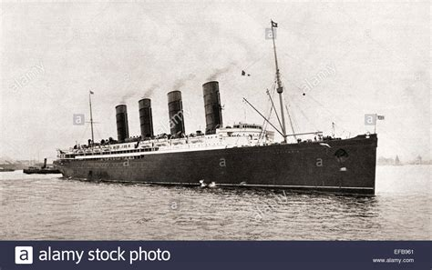 passenger ship sunk by german u boat rms lusitania cunard line ocean liner torpedoed and sunk