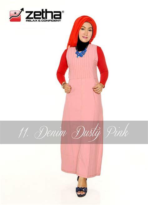Celana Zetha Ukuran 2xl Denim Pink Sedang baju overall zetha denim warna dusty pink celana denim zetha
