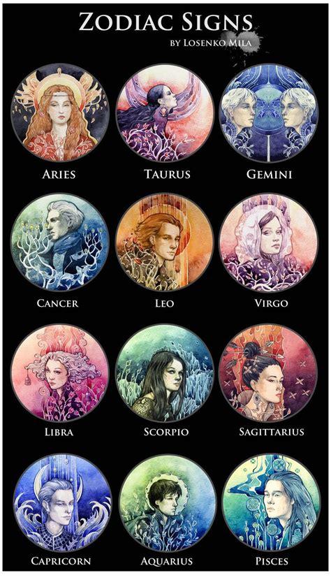 zodiac sign colors zodiac signs book 1 hair colors wattpad