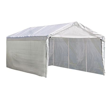 Garage Cing Car En Kit by Shelterlogic Max 12 Ft X 20 Ft White Canopy