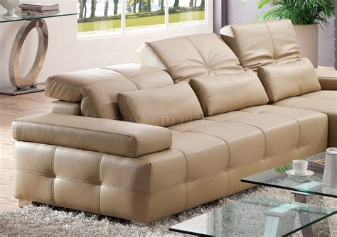 light brown leather sofa s812 a sectional sofa in light brown leather by pantek