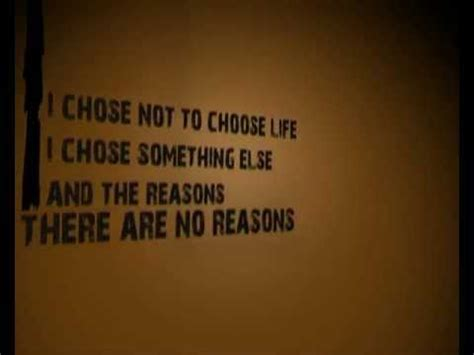 Best To This - trainspotting choose with words