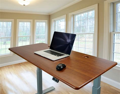 stand up desk review imovr thermodesk upsilon electric stand up desk review