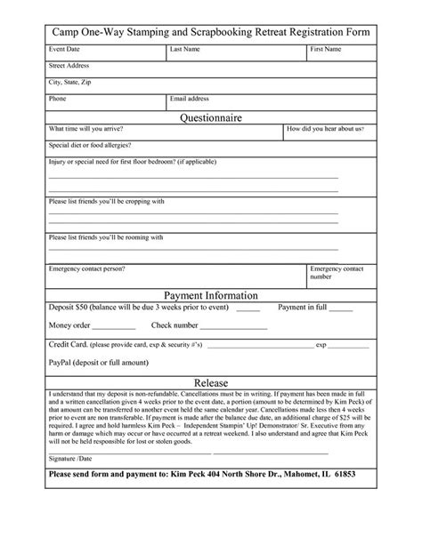 registration form template free registration form template word want a free refresher