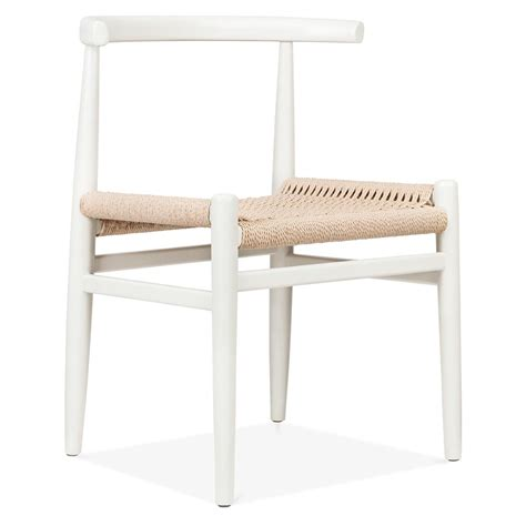white basket weave chairs cult living nordic chair in white wood with weave seat