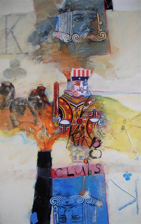 acrylic painting king king of clubs painting by cliff spohn