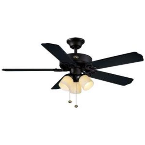 home depot black ceiling fans hton bay colby 52 in indoor matte black ceiling fan
