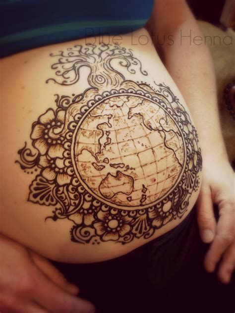 globe tattoos designs the requested the earth and something botanical we