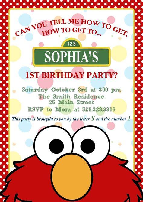 personalised elmo birthday card elmo invitation jpg