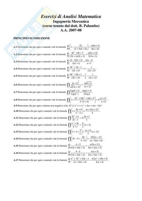 dispense di analisi matematica 1 algebra e geometria lineare
