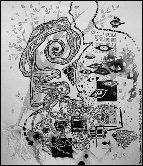 pen and ink doodle chris eisenbraun surreal ink doodle 2012 quot tenuous