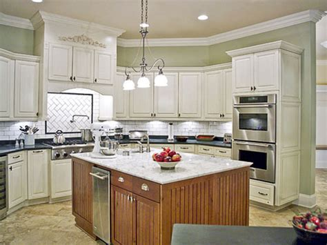 Painting Kitchen Cabinets Distressed White Painting Kitchen Cabinets White Casual Cottage
