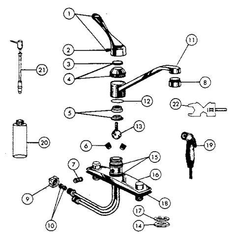 peerless kitchen faucet repair parts peerless faucets repair diagrams peerless faucet parts