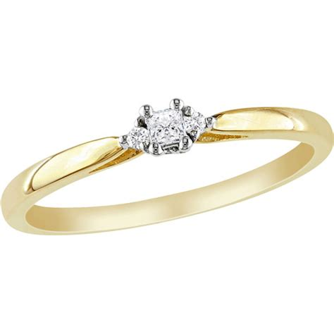 miabella princess cut accent 10kt yellow gold