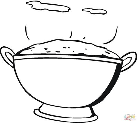 Mash Outline by Mashed Potatoes Coloring Page Free Printable Coloring Pages