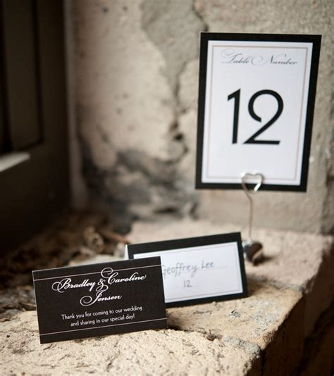 wedding table number cards table place cardstable place cards
