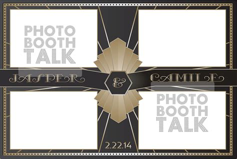 Art Deco 1 Photo Booth Talk 4x6 Photo Booth Templates