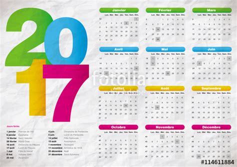 Ephemeride Calendrier 2017 Quot Calendrier 2017 Fran 231 Ais Multicolore Texture Papier