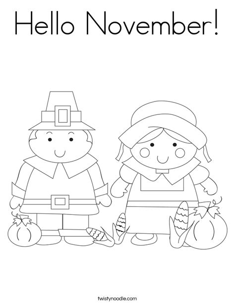 coloring page november hello november coloring page twisty noodle