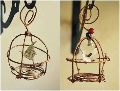 wire craft projects birdcages wire and floral on