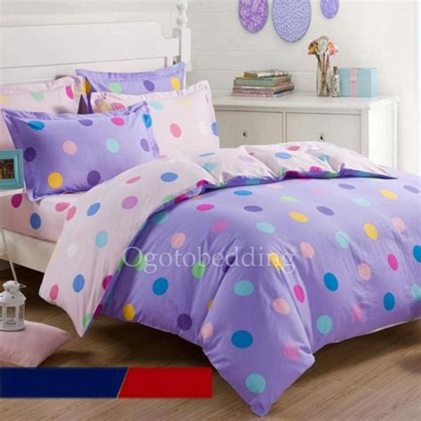 polka dot bedding modern purple 100 cotton clearance teen polka dot bedding