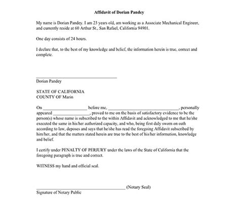 Affidavit Exle Form For Bonafide Marriage Immigration General Probable Cause Points To Be Probable Cause Affidavit Template