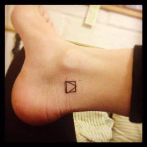 geometric tattoo tiny geometric tattoo small foot tattoo winter 2013 pinterest