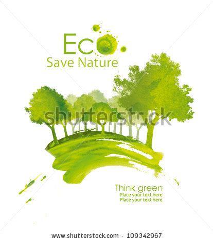 environmentally friendly trees illustration environmentally friendly planet green tree stock illustration 109342967